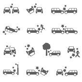 Car crash — Stock Vector