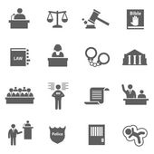Set of law icons — Stock Vector