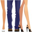 Set of male and female legs — Stock Vector #70368623