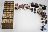 Senet and dices — Stock Photo