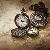 Vintage antique pocket watches — Foto Stock
