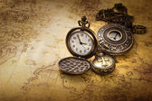 Vintage antique pocket watches — Stock Photo