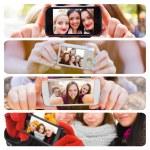Selfies through the seasons of the year — ストック写真 #58426927