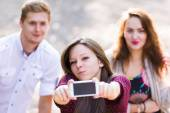 Duckface for the selfie — Stock Photo
