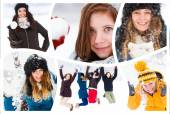 Young people in winter — Stock Photo