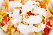 Caesar salad closeup — Stock Photo