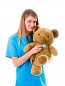 Friendly Pediatrician — Stock Photo