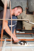 Handy Man Working With Cables — Stock Photo