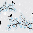 Snow Branches — Stockvektor  #53213515