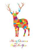 Mosaic Reindeer — 图库矢量图片