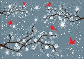 Snow Branches — Stock Photo