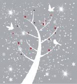 雪树 — 图库矢量图片