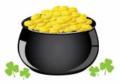 Golden Pot — Stock Vector