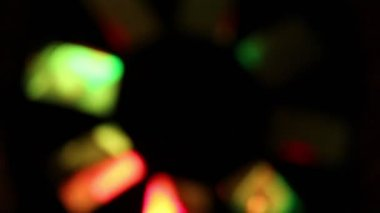 Background of colorful blurred lights in pub or disco — Video Stock