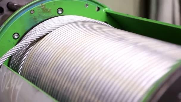 Industrie lourde - corde en acier, aussière — Vidéo