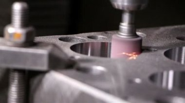 Heavy industry - coordinate grinding machine for very fine grinding — Stock Video
