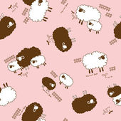 Sheep pattern, — Stock Vector