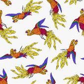 Oriental phoenix — Vettoriale Stock