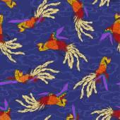 Oriental phoenix — Vetor de Stock
