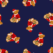 Santa bear pattern — Stock Photo