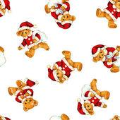 Santa bear pattern — Stock fotografie
