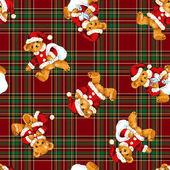 Santa medvěd vzor — Stock fotografie