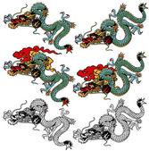 Japanese dragon — Stock Vector