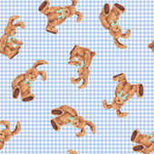 Pattern of rabbit I made the illustration of the rabbit which I loved — Stock Photo