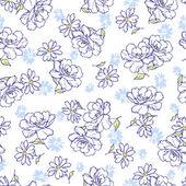 Bloemenpatroon — Stockvector