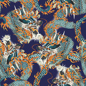 Dragon pattern — Stock Photo