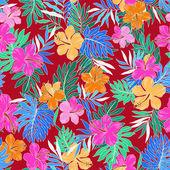 Patroon van hibiscus — Stockvector