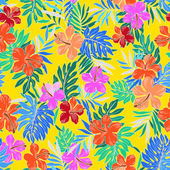 Muster von hibiskus — Stockvektor