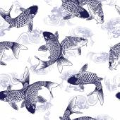 Carp pattern — Stock Vector