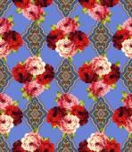Rose basic pattern, — Stock Vector