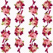 Rose pattern, — Stock Vector