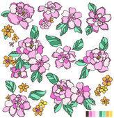 Flower illustration — Stock Vector