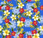 Hibiscus pattern — Stock Photo
