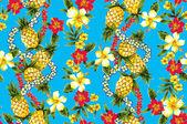 Hibiscus pattern — Stock Photo