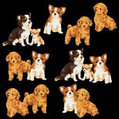Ilustrace psa — Stock fotografie