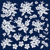 Ilustración de hibisco — Vector de stock