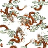 Japanese dragon pattern — Stock Photo