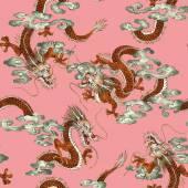 Japanese dragon pattern — Stockfoto
