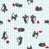 Hübsche Katze Muster — Stockfoto
