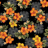 Hibiscus flower pattern — Stock Photo
