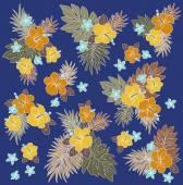 Hibiscus flower illustration — Stock Vector
