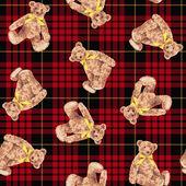 Bear illustration pattern — Stock Photo