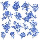 Rose flower illustration, — Stock Vector