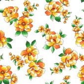 Flower illustration pattern — Stock Vector