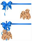 Illustration of dog and ribbon — Stock Photo