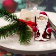 Christmas ans New Year table decoration — Stock Photo #59180449